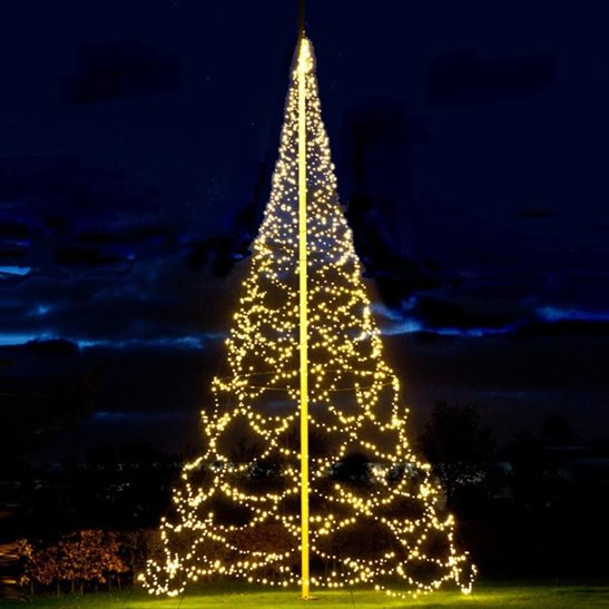 Outdoor Christmas Tree With Lights.Details About Fairybell 4 2m 3d Giant Outdoor Christmas Tree With 640 Warm White Led S